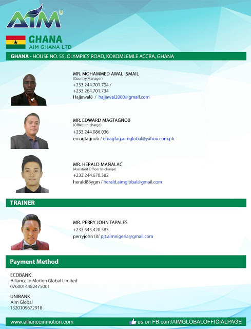 OFFICIAL BANK ACCOUNT NUMBERS IN GHANA